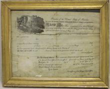 LAND GRANT SIGNED BY PRESIDENT JAMES MUNROE,
