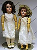 LOT OF TWO GERMAN BISQUE HEAD DOLLS,