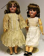 TWO HANDWERCK DOLLS, NOS. 109 AND 19,
