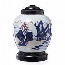 Pickle jar in porcelain from China, Daoguang