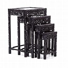 Four Chinese nest tables