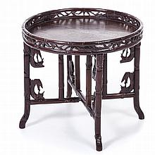 Chinese table with removable top
