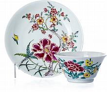 Bowl with saucer in Chinese porcelain, Yongzheng