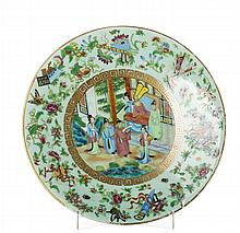 Plate in Chinese porcelain, Daoguang