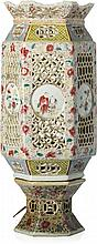 Table lamp in Chinese porcelain, Guangxu