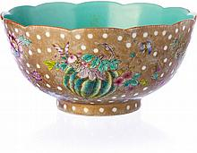 Bowl 'butterflies' in Chinese porcelain, Daoguang
