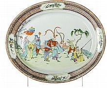 Oval platter in Chinese porcelain, Guangxu