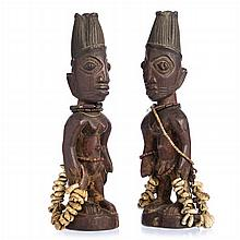 YORUBA - pair of Ibeji figures
