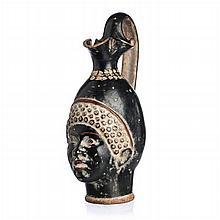 Figurative oinochoe 'black woman's head'