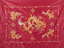 Chinese hanging fabric 'dragon', 19th century