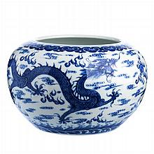 Cachepot 'dragon' in Chinese porcelain, Guangxu
