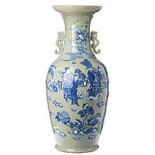 Large vase 'deities' in Chinese porcelain, Tongzhi