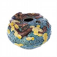 Brushwasher 'dragon' in Chinese porcelain, Guangxu