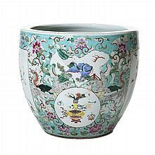 Aquarium 'flower pots' in porcelain, Daoguang