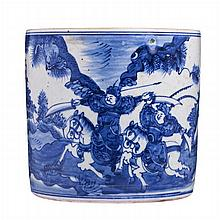 Brushpot in Chinese porcelain, Guangxu/Minguo