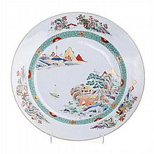 Plate in porcelain, China, Quianlong