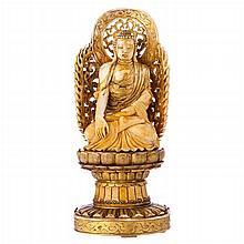 Buddha sculpture, Chinese, in ivory, Guangxu