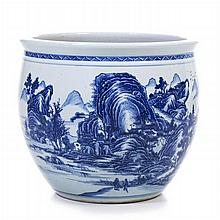Fish aquarium in Chinese porcelain, Guangxu