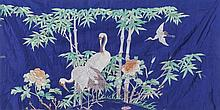 Two Chinese drapes 'cranes', 19th century