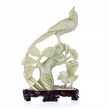Sculptural group 'birds' in Chinese jade