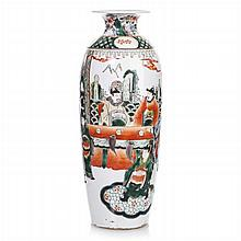Vase 'figures' in Chinese porcelain, Guangxu
