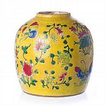 Pot in Chinese porcelain, Tongzhi