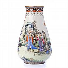 'Deities' vase in China porcelain, Republic