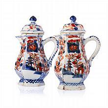 Pair of Verseuses in Chinese porcelain, Kangxi