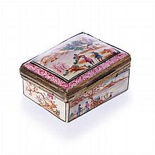 Snuff box 'European figure' in Chinese porcelain, Qianlong