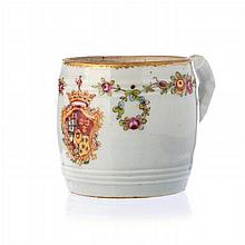 Cream boat in Chinese porcelain, Marquis of Marialva coat of arms