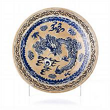 Plate 'dragon' in Chinese porcelain, Guangxu