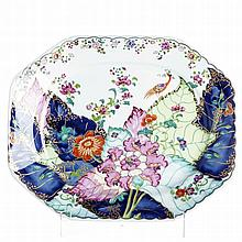 Large 'tobacco leaf' plate by Vista Alegre