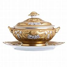 Tureen with a stand by Vista Alegre