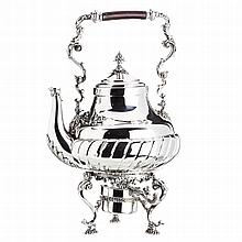 Teapot with warmer in Spanish silver