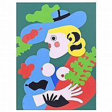 JOSÉ DE GUIMARÃES (bn.1939) - 'Untitled'