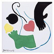 JOSÉ DE GUIMARÃES (born in 1939) - 'Azulejo' (Tile)