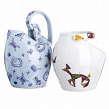Two vases in modernist ceramics from Alcobaça