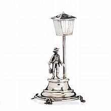 Toothpick holder 'fado singer' in silver