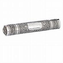 Documents holder tube in Indian silver