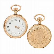 Woman pocket watch in gold
