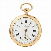 OMEGA - Woman pocket watch in gold