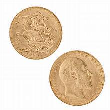 Gold pound Edward VII, 1905
