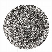 Mannerist salver in silver, 17th century