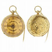 BENSON - Pocket watch in gold