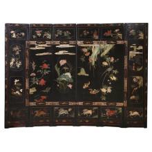 Chinese folding screen in Coromandel lacquer
