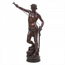 MARIUS-JEAN ANTONIN MERCIÉ (1845 -1916 ) - 'David vitorioso' (Victorious David)