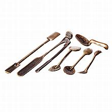 Seven goldsmith's tools