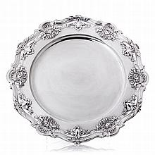 Large salver in boar silver