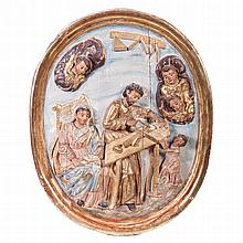 Oval 'Holy Family' altarpiece