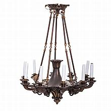 Ceiling chandelier in bronze